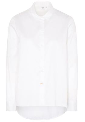ETERNA 1863 dames blouse A-lijn, twill satijnbinding, wit