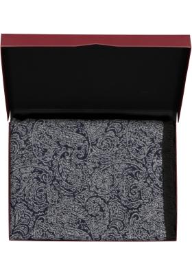 Michaelis heren sjaal in cadeauverpakking, blauw paisley dessin