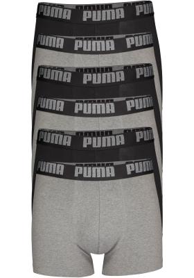 Puma Basic Boxer heren (2-pack), zwart en donkergrijs