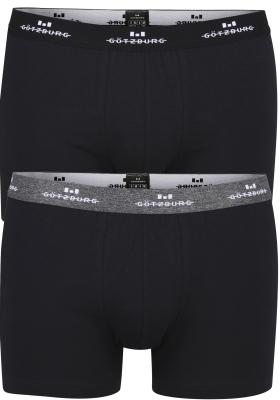 Gotzburg heren boxers (2-pack), normale lengte, zwart