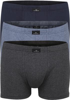 Gotzburg heren boxers (3-pack), normale lengte, blauw en grijs