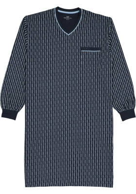 Gotzburg heren nachthemd, blauw met lichtblauw en wit dessin