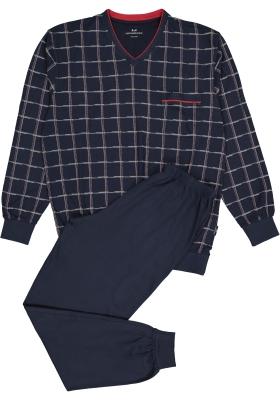 Gotzburg heren pyjama, blauw met rood en wit geruit