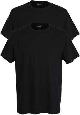 Gotzburg heren T-shirts regular fit O-hals (2-pack), zwart