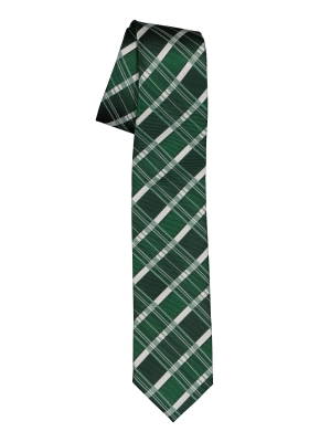 Pelucio stropdas, groen geruit