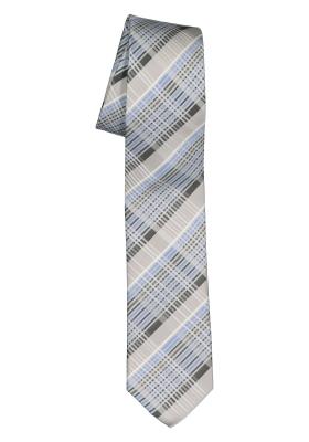 Pelucio stropdas, grijs met blauw geruit