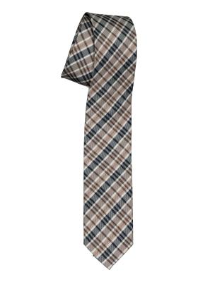 Pelucio stropdas, bruin geruit