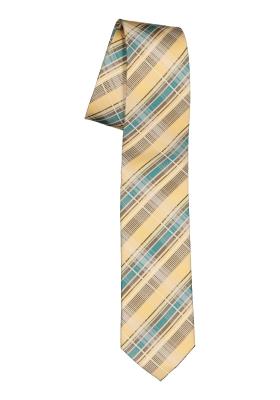 Pelucio stropdas, geel geruit