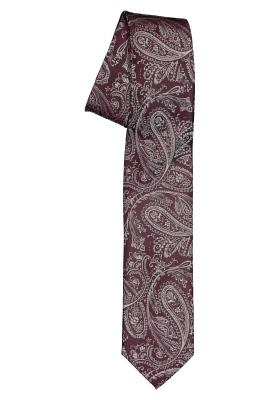 Pelucio stropdas, bordeaux rood paisley
