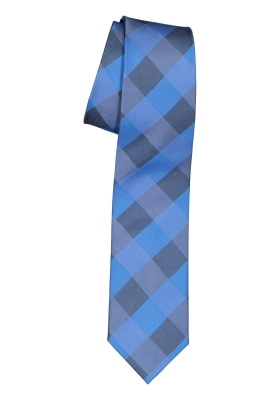 Pelucio stropdas, blauw geruit