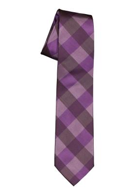 Pelucio stropdas, paars geruit