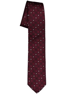 Pelucio stropdas, bordeaux rood gestipt