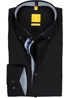 Redmond Modern Fit overhemd, zwart (contrast)