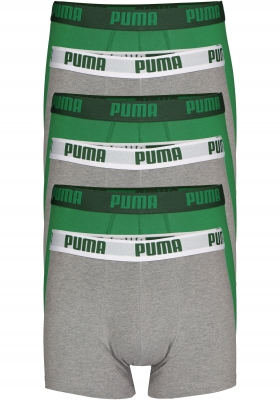 Puma Basic Boxer heren (6-pack), groen en grijs