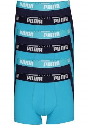 Puma Basic Boxer heren (6-pack), aqua en blauw