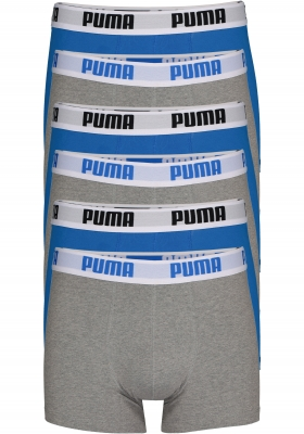Puma Basic Boxer heren (6-pack), blauw en grijs