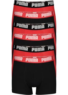 Puma Basic Boxer heren (6-pack), rood en zwart