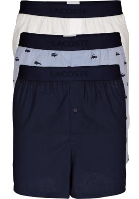 Lacoste heren wijde boxershorts (3-pack), blauw, navy en wit