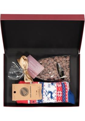 Hot Chocolade cadeauset Many Mornings huissokken met warme chocolademelk, Warme winter