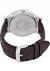 Armani heren horloge (43 mm), zwart met bruine leren band