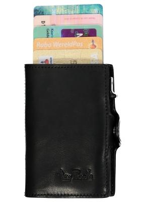Tony Perotti pasjes RFID portemonnee (6 pasjes) met papiergeldvak, zwart leer