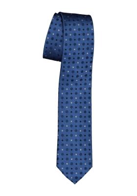 Pelucio stropdas, blauw gestipt met zwart, wit en donkerblauw
