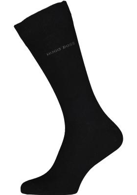 HUGO BOSS Cotton Uni (2-pack), herensokken katoen, zwart