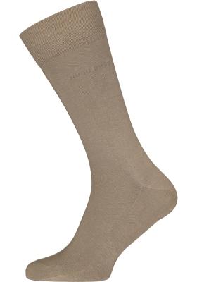 HUGO BOSS Cotton Uni (2-pack), herensokken katoen, beige