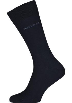 HUGO BOSS Cotton Uni (2-pack), herensokken katoen, navy blauw