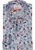MARVELIS Modern Fit overhemd, mouwlengte 7, rood met wit en blauw paisley dessin