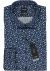 OLYMP Luxor Modern Fit overhemd, donker- met lichtblauw klein gebloemd
