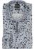 OLYMP Level 5 body fit overhemd, blauw met bruin dessin