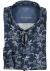 OLYMP Luxor 24/Seven modern fit overhemd, blauw bloemen dessin tricot