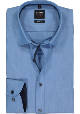 OLYMP Level 5 body fit overhemd, lichtblauw (contrast)