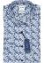OLYMP Tendenz modern fit overhemd, korte mouw, blauw met roze gebloemd