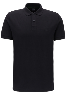 Hugo Boss Regular Fit heren polo, Piro, zwart