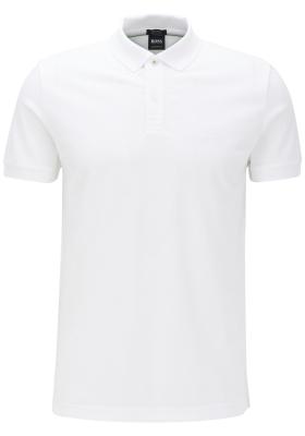 HUGO BOSS Piro regular fit polo, heren polo korte mouw, wit