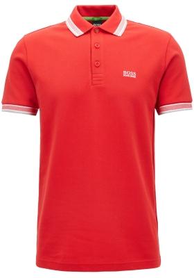 HUGO BOSS Paddy regular fit polo, heren polo korte mouw, rood (wit)