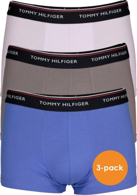 Tommy Hilfiger boxershorts (3-pack), blauw, grijs en lila
