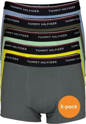Tommy Hilfiger boxershorts (5-pack), groen, grijs, geel en lichtblauw