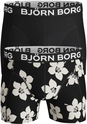 Bjorn Borg boxershorts Core (2-pack), zwart en gebloemd