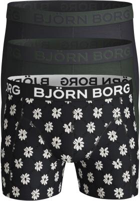 Bjorn Borg boxershorts Core (3-pack), groen, blauw en gebloemd