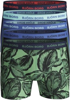 Bjorn Borg boxershorts Essential (5-pack), blauw en groen print en uni