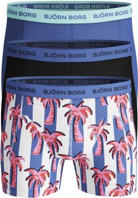 Bjorn Borg boxershorts Essential (3-pack), palmbomen en uni