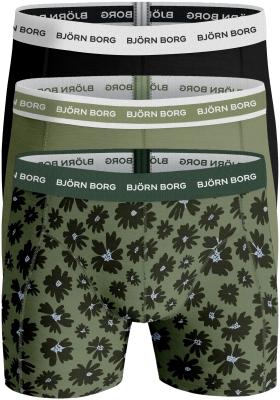Bjorn Borg boxershorts Essential (3-pack), uni en bloemen
