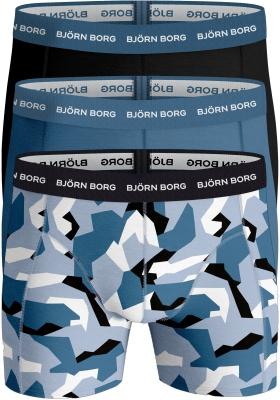 Bjorn Borg boxershorts Essential (3-pack), camo en uni