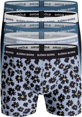Bjorn Borg boxershorts Essential (5-pack), blauwtinten en print