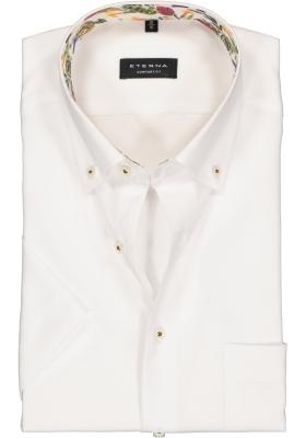 Eterna Comfort Fit overhemd, korte mouw, wit (contrast)