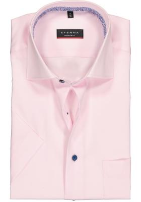 Eterna Modern Fit overhemd, korte mouw, roze (contrast)