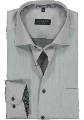 Eterna Comfort Fit overhemd, lichtgrijs (contrast)